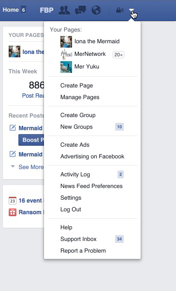 how to use facebook as your page