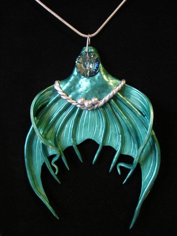 Mermaid tail pendants on etsy aloadofball Images